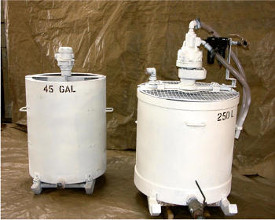 Mixing Tanks to hire 45 and 250 litre capacity